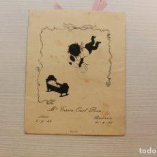 Postales: BOLSA RECORDATORIO BAUTIZO, 1953, MIN. Lote 180168518