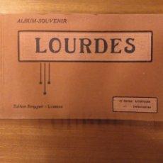 Postales: LOURDES ÁLBUM SOUVENIR BLOC 12 POSTALES B/N. ED. SIREYGEOL. Lote 180193088