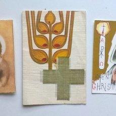 Postales: LOTE DE CINCO ANTIGUAS ESTAMPAS RELIGIOSAS - RECORDATORIOS COMUNIÓN - AÑOS 1964 Y 1969. Lote 180218637