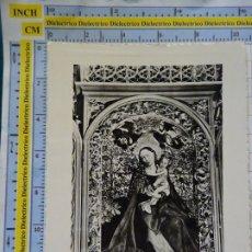 Postales: POSTAL RELIGIOSA SEMANA SANTA. COLMAR FRANCIA, CATEDRAL LA VIERGE AU BUISSON DE ROSES. 694. Lote 180404211