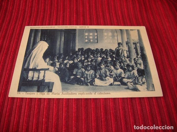 ANTIGUA POSTAL.MISIONES SALESIANAS - TANJORE .INDIA, (Postales - Postales Temáticas - Religiosas y Recordatorios)