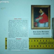 Postales: ESTAMPA RELIGIOSA - SAN CARLOS BORROMEO . Lote 180898787