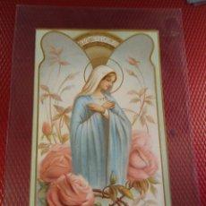 Postales: ESTAMPA RELIGIOSA. VIRGEN. PUBLICIDAD LA CASTELLANA MODERNA. . Lote 181014226