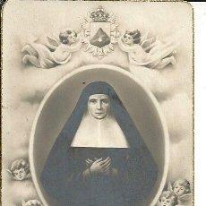 Postales: ESTAMPA BEATA JOAQUINA DE VEDRUNA CON URNA QUE GUARDA SUS RESTOS. Lote 181089968
