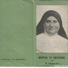 Postales: NOVENA DE ENFERMOS A LA MADRE MARGARITA. Lote 181324323