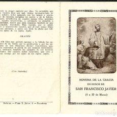 Postales: ESTAMPA *NOVENA DE GRACIA DE SAN FRANCISCO JAVIER* - BAÑERES. Lote 181325455