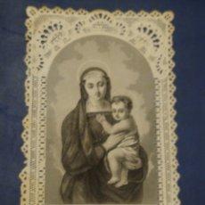 Postales: ESTAMPA CALADA O DE PUNTILLA. SANTA VIRGEN MARÍA. Lote 181495962