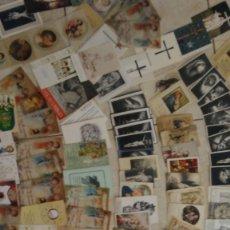 Postales: ENORME LOTE DE ESTAMPITAS VIRGEN RELIGIOSAS DE COMUNION Y FUNERAL. Lote 181565801