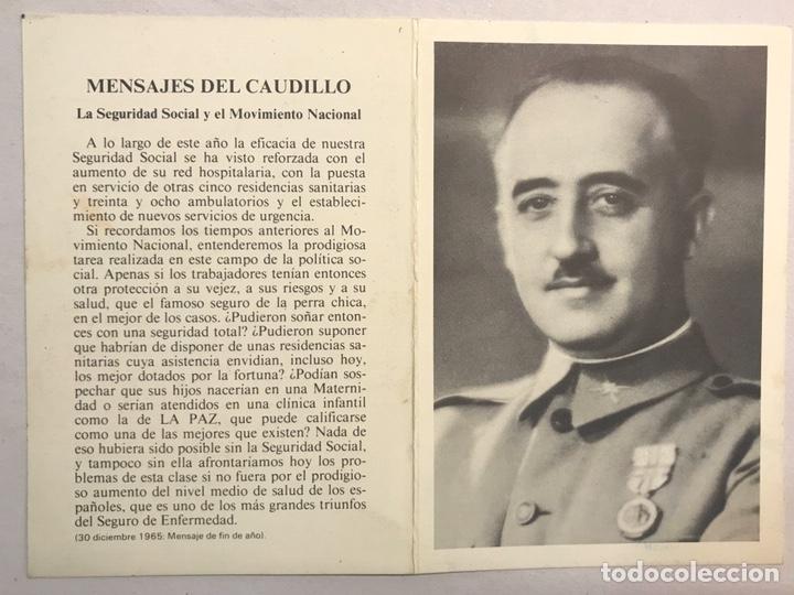 Postales: OBITUARIO. FRANCISCO FRANCO BAHAMONDE , en él X Aniversario de su muerte. 20 Noviembre de 1985 - Foto 2 - 182040010