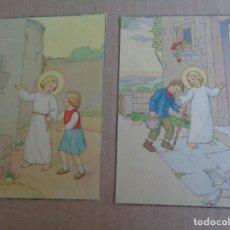 Postales: 2 POSTALES RELIGIOSAS DE NIÑOS -- 1942. Lote 182184131