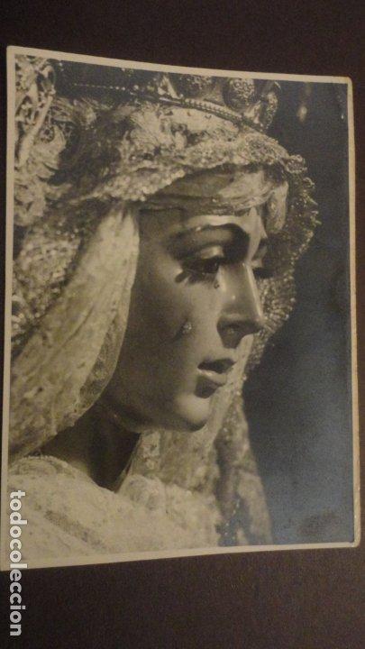 RECUERDO SOLEMNE SEPTENARIO.VIRGEN MACARENA.FOTO ARENAS.SEVILLA 1953 (Postales - Postales Temáticas - Religiosas y Recordatorios)