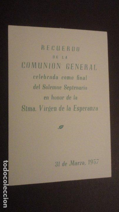 Postales: RECUERDO SOLEMNE SEPTENARIO.VIRGEN MACARENA SEVILLA 1957. FOTOGRAFICA - Foto 2 - 182309963