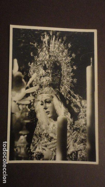 RECUERDO SOLEMNE SEPTENARIO VIRGEN MACARENA SEVILLA 1955. FOTO HARETON (Postales - Postales Temáticas - Religiosas y Recordatorios)