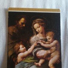 Postales: LA VIRGEN ROSA DE RAFAEL, MUSEO DEL PRADO. Lote 182391180