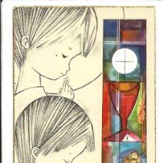 Postales: RECORDATORIO COMUNION *SALMONS* - BARCELONA 1962. Lote 182465001