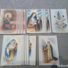 Postales: ANTIGUAS POSTALES DE SANTAS SIN CIRCULAR DE COLECCION NUMERADAS.46 POSTALES. Lote 182478507