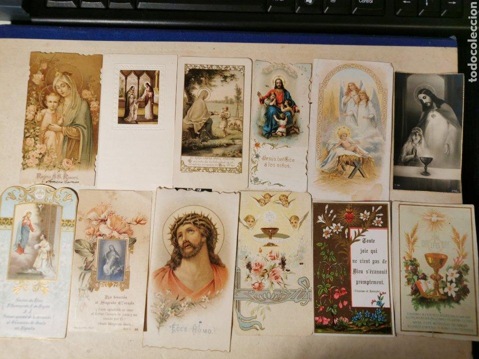 LOTE DE ESTAMPAS RELIGIOSAS ANTIGUAS. (Postales - Postales Temáticas - Religiosas y Recordatorios)