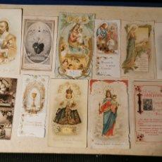 Postales: LOTE DE ESTAMPAS RELIGIOSAS. ANTIGUAS. Lote 182789392
