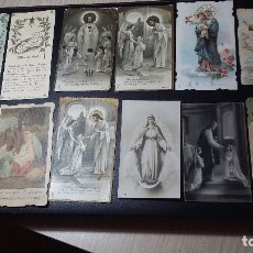 Postales: 12 ANTIGUOS RECORDATORIOS RELIGIOSOS, ENTRE 1919 Y 1939. Lote 183048138