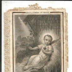 Postales: ESTAMPA *JESÚS, LUZ DEL MUNDO* CON PUNTILLA TROQUELADA - ED. LAMARCHE-PARIS. Lote 183193157