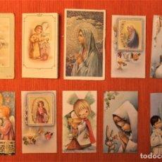 Postales: 10 RECORDATORIOS ESTAMPAS DE PRIMERA COMUNIÓN. Lote 183324803
