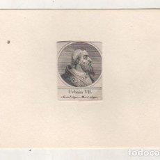 Postales: GRABADO MONTADO EN CARTULINA DEL PAPA URBANO VII. Lote 183829408