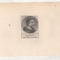 Postales: GRABADO MONTADO EN CARTULINA DEL PAPA INOCENCIO IX. Lote 183829543