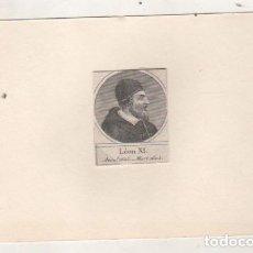 Postales: GRABADO MONTADO EN CARTULINA DEL PAPA LEON XI. Lote 183830065