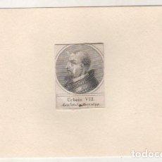 Postales: GRABADO MONTADO EN CARTULINA DEL PAPA URBINO VIII. Lote 183830188