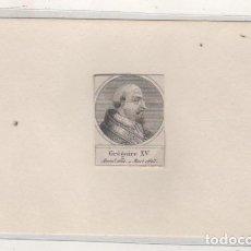 Postales: GRABADO MONTADO EN CARTULINA DEL PAPA GREGORIO XV. Lote 183830567