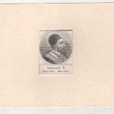 Postales: GRABADO MONTADO EN CARTULINA DEL PAPA INOCENCIO X. Lote 183830730