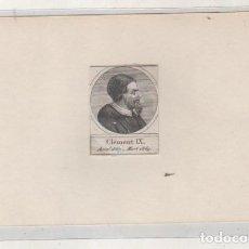 Postales: GRABADO MONTADO EN CARTULINA DEL PAPA CLEMENTE IX. Lote 183830950