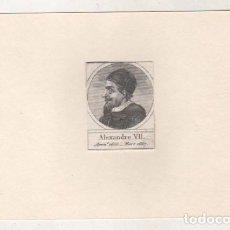 Postales: GRABADO MONTADO EN CARTULINA DEL PAPA ALEJANDRO VII. Lote 183831177