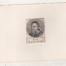 Postales: GRABADO MONTADO EN CARTULINA DEL PAPA PIO IV. Lote 183831501