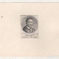 Postales: GRABADO MONTADO EN CARTULINA DEL PAPA CLEMENTE X. Lote 183882116