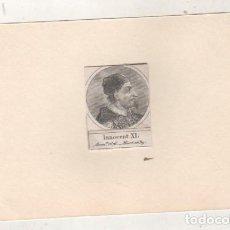 Postales: GRABADO MONTADO EN CARTULINA DEL PAPA INOCENCIO XI. Lote 183882155