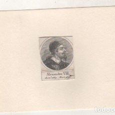 Postales: GRABADO MONTADO EN CARTULINA DEL PAPA ALEJANDRO VIII. Lote 183882235