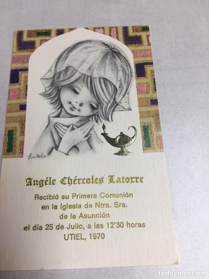 ESTAMPA DE 1ª COMUNION - UTIEL 1970 - 7X11CM (Postales - Postales Temáticas - Religiosas y Recordatorios)