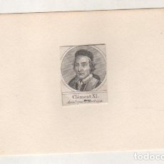 Postales: GRABADO MONTADO EN CARTULINA DEL PAPA CLEMENTE XI. Lote 183930551