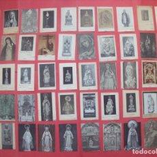 Postales: VIRGENES.-GRAN LOTE DE 50 FOTOS-RECORTES.-ESTAMPAS RELIGIOSAS.-MADRID.-PRINCIPIOS SIGLO XX.. Lote 184751396