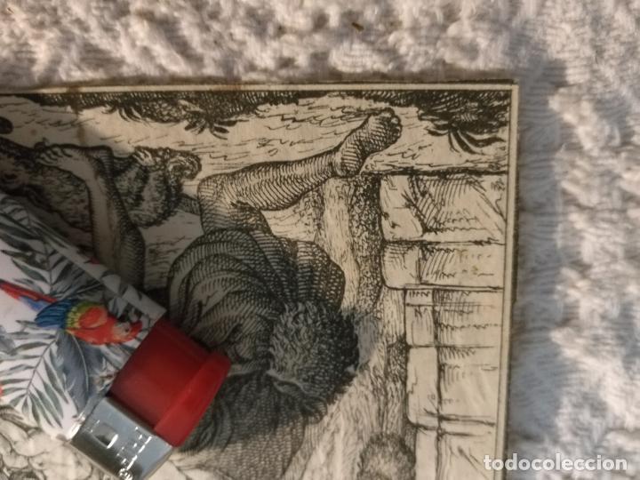 Postales: antiguo grabado original nacimiento belen virgen niño jesus san jose 11 x 8,5 cm - Foto 4 - 184810771