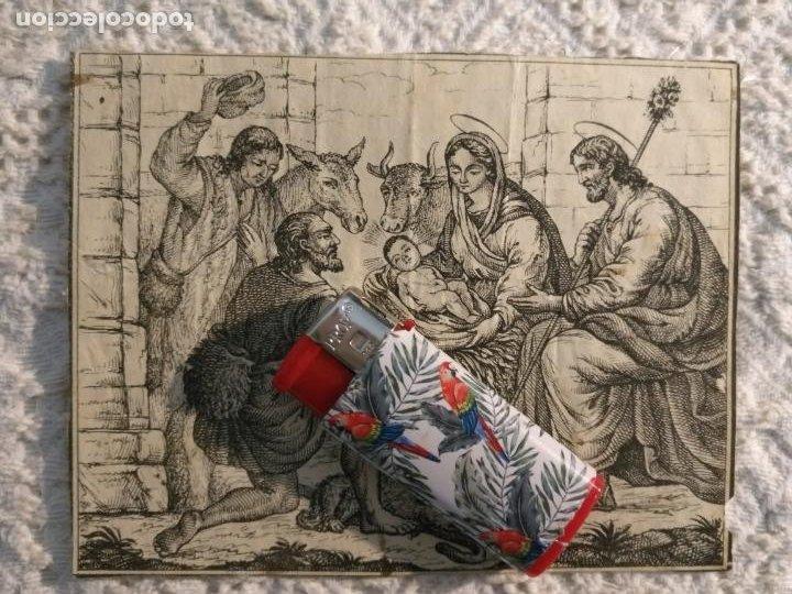 ANTIGUO GRABADO ORIGINAL NACIMIENTO BELEN VIRGEN NIÑO JESUS SAN JOSE 11 X 8,5 CM (Postales - Postales Temáticas - Religiosas y Recordatorios)