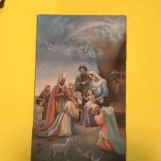 Postales: IGLESIA PARROQUIAL DE SAN ISIDORO DE SEVILLA 1931 RECUERDO PRIMERA COMUNION REYES MAGOS VIRGEN NIÑO. Lote 184930365