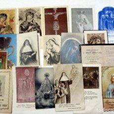Postales: LOTE ESTAMPAS RELIGIOSAS PERPETUO SOCORRO EDITORIAL DEFUNCION 1900. Lote 185931531