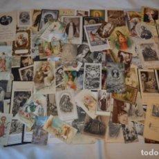 Postales: LOTE 03 - MÁS DE 100 RECORDATORIOS Y ESTAMPAS RELIGIOSAS VARIADOS, PRINCIPIOS 1900 A 1960 ¡MIRA!. Lote 186137195