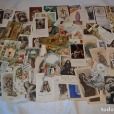 Postales: LOTE 04 - MÁS DE 100 RECORDATORIOS Y ESTAMPAS RELIGIOSAS VARIADOS, PRINCIPIOS 1900 A 1960 ¡MIRA!. Lote 186138088