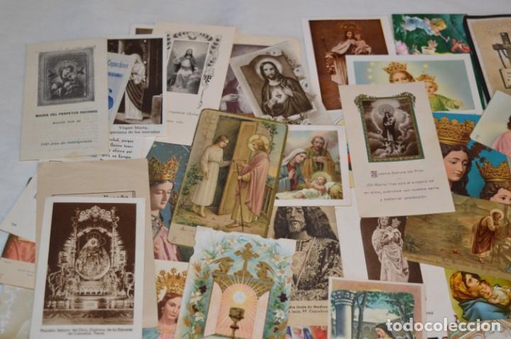 Postales: Lote 04 - Más de 100 Recordatorios y estampas religiosas variados, Principios 1900 a 1960 ¡Mira! - Foto 2 - 186138088