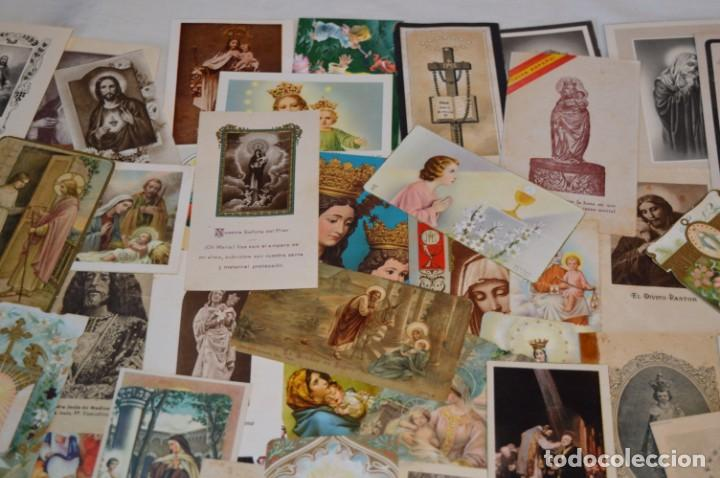 Postales: Lote 04 - Más de 100 Recordatorios y estampas religiosas variados, Principios 1900 a 1960 ¡Mira! - Foto 3 - 186138088