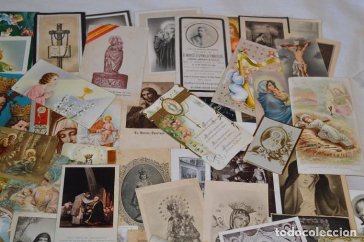 Postales: Lote 04 - Más de 100 Recordatorios y estampas religiosas variados, Principios 1900 a 1960 ¡Mira! - Foto 4 - 186138088