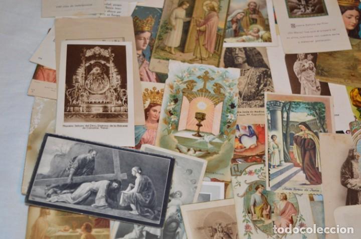 Postales: Lote 04 - Más de 100 Recordatorios y estampas religiosas variados, Principios 1900 a 1960 ¡Mira! - Foto 5 - 186138088